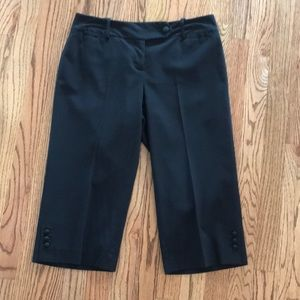 Ann Taylor Petites Black Knee Length Pants Sz 2P